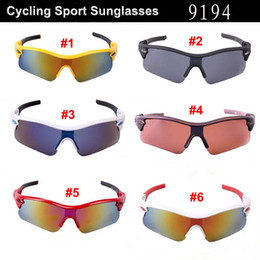 Hot SALE Sunglasses Popular Wind Cycling Mirror Sport Outdoor Eyewear Goggles Sunglasses For Women Men 9194 Sunglasses