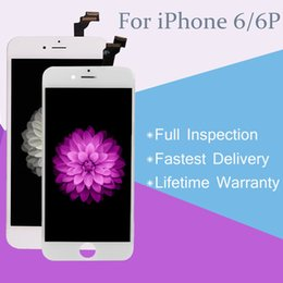 LCD Display with Touch Screen Digitizer Complete Assembly for iPhone 6 6Plus Black & White with Lifetime Warranty