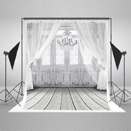 5 x 6.5 ft Photography Backdrop Fundo White Chandelier Doors 3D Baby Photography Backdrop Background LK 2068