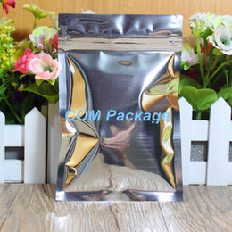 Descuento bolsas de embalaje reutilizables 18 * 26cm Bolsa de embalaje plástica de la cremallera de la válvula de la hoja resbalable de aluminio Bolsillo del paquete de Ziplock de la cerradura del cierre relámpago Bolsos Polybag