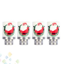 Meilleur rba à vendre-Santa Claus Ceramic Goutte Tip RDA RBA Goutte Astuce Noël Drip Tip Fit 510 Atomiseurs Meilleur cadeau de Noël DHL Free