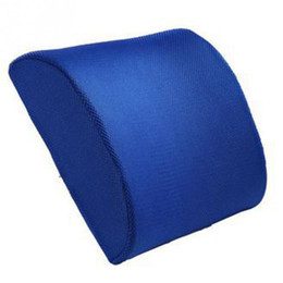 Promotion oreillers de soutien lombaire Memory Foam Lumbar Back Support Coussin Oreiller pour Home Car Auto Seat Breathable amovible et lavable en machine Livraison gratuite
