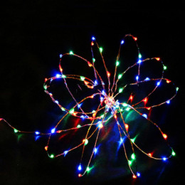 Wholesale-10pcs lot 9 Colors Waterproof Portable 2M 20 LED Battery String Fairy  lights For Christmas Party wedding Garden Camping