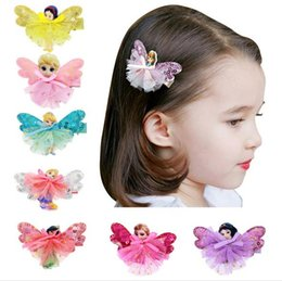 Venta al por mayor Froze Girls Baby Baby Barrettes Cute Mini Princesa Dress Horquillas Grosgrain Cinta Bow Headdress Hair Accesorios childrens hair bows accessories wholesale for sale desde arcos del pelo de los niños al por mayor de accesorios proveedores