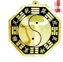 Wholesale A bronze mirror Taiji Bagua mirror evil concave mirror talisman defends the feng shui ornaments decoration copper