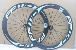 Ultra light blue decal FFWD F6R 60mm cycling wheelset 700c Carbon road racing wheels road bike bicycle wheelset free shipping