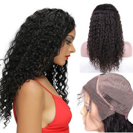 Best Selling 130% Density Lace Front Human Hair Wigs For Black Women Deep Wave Brazilian Remy Hair Natural Black With Baby Hair