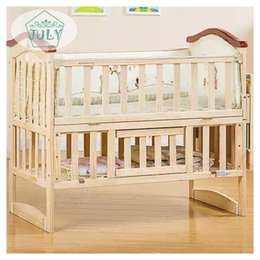 Wholesale High quality Cribs Solid woodless lacquered baby BB bed Cradle bed Multifunctional environmental protection Children bed
