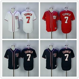 Wholesale Trea Turner Jersey Cool Base Washington Nationals Jerseys Home Away White Red Blue