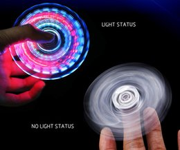 hand spinner Crystal gyro waterproof light-emitting triangular double-sided luminous clover transparent flash crystal finger gyro lights