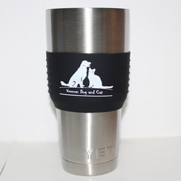 Wholesale NEW Sleeve Grip for Yeti oz YETI RTIC Rambler Tumbler Other Cups Tumbler Silicone Beer Growler Sleeve Anti Slip Cup Mug Sleeves