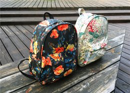 Hot Fashion Desin Street Graffiti Flowers Girl Backpack Leisure Travel School Bag Outdoor Waterproof Nylon Bag
