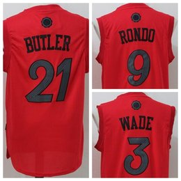 Wholesale Best High Dwyane Wade Christmas Jersey Rajon Rondo Jimmy Butler Xmas Day Jerseys Uniforms Fashion Team Color Home Red