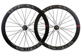 Wholesale Velosa Disc Road bike Disc Brake carbon wheelset mm clincher tubular C road bike wheel cyclocross wheel