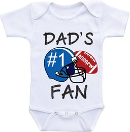 Wholesale football shirt Football baby bodysuit Baby boy Football Sports romper Matching Outfits Boy Girl white Onesies baby shower gifts Bodysuits