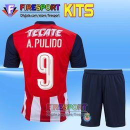 Camiseta de futebol 2016 Men Chivas de Guadalajara Adult Men Kits Soccer Jerseys 16 17 sets with Shorts Libertadores uniform Football Shirts