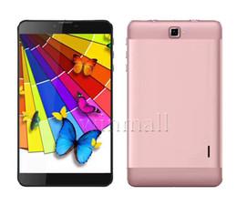 Acheter en ligne Pouces 1gb-7 pouces 1280 * 800 IPS écran Quad Core 1 Go 16 Go Dual SIM 3G Tablet PC Android Phablet GPS Bluetooth Wifi