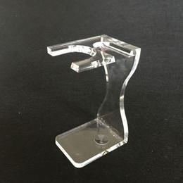 Shaving Brush Holder Safsty Razor Stand Holder Plastic Tranparent Holder
