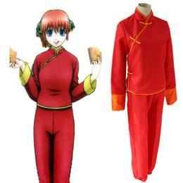 gintama kagura cosplay costumes Chinese Kongfu Japanese anime GINTAMA clothing Masquerade Mardi Gras Carnival costumes