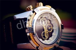 Regarder bracelet en caoutchouc noir en Ligne-NOUVEAU Regard pour homme couleur noir-blanc Boîtier surdimensionné Mutiple Dials Date Display Bracelet en caoutchouc Quartz Montres étanches Livraison gratuite