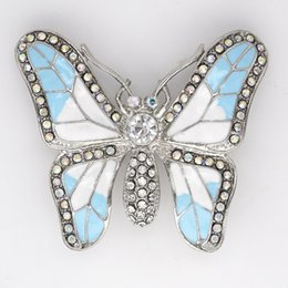 Wholesale Crystal Rhinestone Enameling Butterfly Brooches Fashion Costume Pin Brooch jewelry gift C364