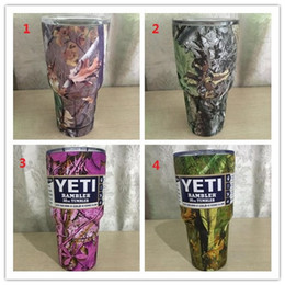 Wholesale 60pcs Camouflage yeti tumbler with LOGO DHL send yeti cups bilayer vacuum CAMO YETI camo coolers DHL Pay Today Ship Today