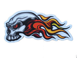 10 Inches Large Embroidery Patches for jacket back Skull Flame Wing Iron On Backing Free Shipping Low Price