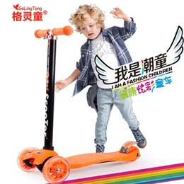 Children scooter baby PU 4wheels Flashing outdoor sport Bodybuilding
