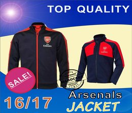 Wholesale 16 Arsenals two kinds jacket Mens top thailand quality soccer training jerseys soccer sweater Training clothes Soccer Jerseys