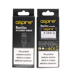 100% Authentic Aspire Nautilus Coil 0.7ohm 1.6ohm 1.8ohm nautilus bvc coils for aspire nautilus 2 tank