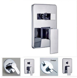 Free Shipping Brass Hot Cold Bath Mixer Valve Wall Mounted Chrome Shower Set Water Control Valve