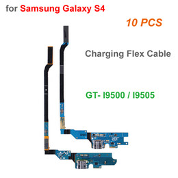 Wholesale 10 Pcs lot A+ Quality Charging Flex Cable for Samsung Galaxy S4 GT i9500 i9505 Charging Port Dock Connector USB Socket