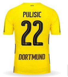 Dortmund 17-18 Thai Quality 22 Pulisic 17 Aubameyang Soccer Jerseys, Customized Personalise number Cheap soccer jerseys from yakuda's Store