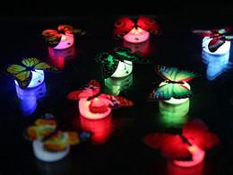 Compra Online Noche de mariposa-Colorido Fibra Óptica Mariposa NightWare 1W Led Mariposa Para La Noche De La Sala De La Noche Decoración De Partido De Pasta En Las Luces De La Pared