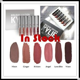 Wholesale In stock Christmas Kylie Mini Kit HOLIDAY Edition KIT MATTE LIQUID LIPSTICKS GLOSS lipsticks matte lipstick collection set