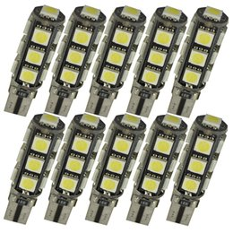 10pcs T10 W5W 5050 13 SMD LED Light Bulb Lamps Canbus Error Free for Car interior light License Plate Light