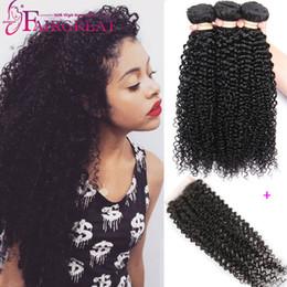 Wholesale Brazilian Curly Human Hair Bundles With Closure A Brazilian Human Hair Bundles With Closure Brazilian Human Hair Wefts With Lace Closure