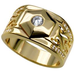 MEN'S 18K GOLD FILLED WEDDING ENGAGEMENT RING BAND (R285) SZ 8-15