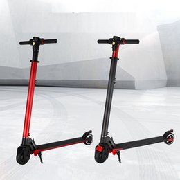 2017 6.5kg Electric Carbon Fiber scooter 2 Wheel Standing kick bike Scooter Hover board Skateboard Foldable E-bike