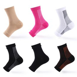 Pieds en nylon en Ligne-Cycle Foot Hommes Femmes Anti Fatigue Angel Circulation Ankle Swelling Relief Compression Foot Sleeve Socks b897