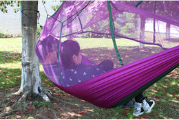 Wholesale 2 M M New Style hammockMosquitoes double parachute cloth nets hammock security from outdoor camping trip