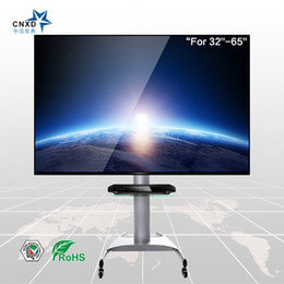Mobile TV Trolley with Universal Mount for fits 32''- 65''Screens with DVD stand TV cart Free Shipping
