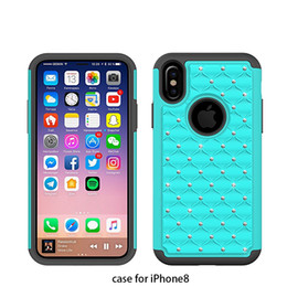 for Iphone 8 Back Soft case cover phone housings floral designs colored TPU & acrylic Ultra Thin case Crystal Cell Phone Parts Accessories.