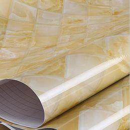 Wholesale LEFU Width120 Waterproof oilproof Smoke Proof Moisture Proof self adihesive Marble wallpaper film for kitchen bathroom living room per meter
