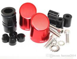 Wholesale rzm Universal Motorcycle Aluminum Handlebar Grips Bar Ends Sliders CNC Handle Bars Grip Cap Plug Slider