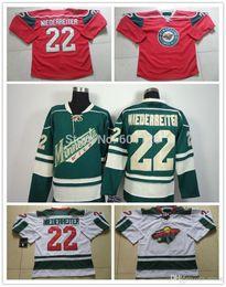 2016 New, Cheap Minnesota Wild Hockey Jerseys #22 Nino Niederreiter Jersey New Home Red White Green Nino Niederreiter Stitched Jerseys