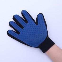 Wholesale Good Quality Pet GLove True Touch Cleaning Massage Removal Glove Bath Dog Cat Brush Comb Hair Cleaning Tools DHL Free