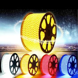 Waterproof Flexible Led Strips 220V 110V SMD 3528 5050 60LED M Led Strip Light Rope Christmas Decoration Flexible Ribbon for Indoor Outdoor
