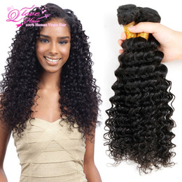 24 paquets de cheveux bouclés à vendre-Natural Black Malaysian Deep Curly Virgin Hair Bundles 3 Bundles Chemins humides et ondulés Cheveux humains Malais Deep Wave Virgin Hair Extensions