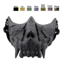 Desert Corps Mask Outdoor Face Protection Gear Airsoft Shooting Equipment Half Face Tactical Airsoft Skull Mask NO03-108